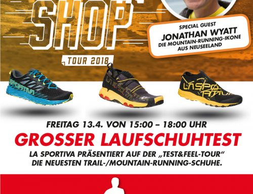 "La Sportiva ""RUN IN SHOP TOUR"" mit Jonathan Wyatt"